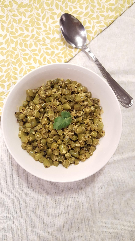 Farasbi chi bhaaji (Stir-fry greenbeans)