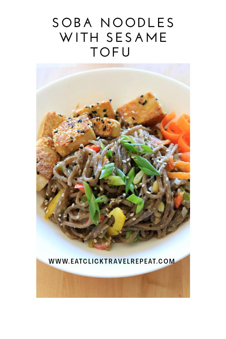 Soba noodles with sesametofu